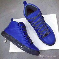 designer shoes for men - The new spring summer High top fashion luxury brand fashionable man lace up shoes for shoes tide men s Designer leisure flat shoes