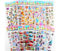 Wholesale all style Cartoon Stickers D cute hot all hereos Home Decals Children Kids Toys zoo gifts Book Stickers Paster factory wholesell hotselling