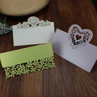 Wholesale Wed party favors party table decoration cards bridal wedding memoes quot x0 quot peal paper seat card place indication card