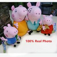 Cheap 4pcs Set Peppa Pink Pig Family Plush Doll 19cm-30cm PP Cotton Pink Pig Pepa Toys Boys and Grils Christmas Gift