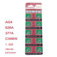 Wholesale Watch Battery Accessories AG4 SR626SW MAH V Electronic battery Button Cell Batteries