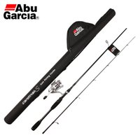 abu bags - Free EMS Abu Garcia Brand Card S20 Full Metal Spinning Reel and S662M M Carbon Fishing Rod Spinning Lure Rod and Rod Bag SET