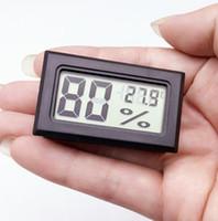 Wholesale 10 Mini Digital LCD Indoor Convenient Temperature Sensor Built in probe Humidity Meter Thermometer Hygrometer Gauge