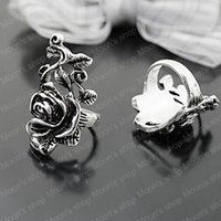 antique bar supplies - Fashion Jewelry Rings Fashion Jewelry Vintage Alloy Antique Silver Rose Rings jewelry sapphire rings jewelry ring supplies