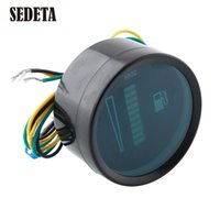 Wholesale Universal Car Motor Digital Fuel Gauge2 quot mm Fuel Meter LED Digital Display V System Fuel Gauge