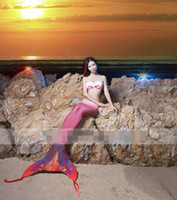 adults swim games - elasticity adult mermaid tails for swimming mermaid tail Cosplay swim fins bikini disfraces carnaval Photography cosplay