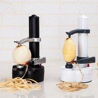 electric potato peeler - Portable Electric spiral Apple Peeler Cutter pear potato peeler with EU plug Fruit Vegetable Tools Kitchen Accessories