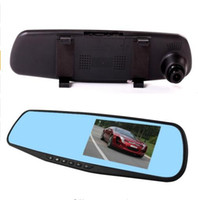 Wholesale 4 HD Screen GB Card P Car Vehicle DVR car dvr Rear Mirror Video Recorder Camera With Retail Package Free ship