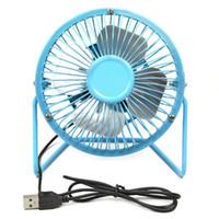 Wholesale Mini USB Cooler Cooling Portable Super Mute Laptop Computer PC Metal Desktop Fan
