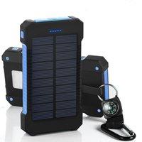 2016 Dual USB солнечных зарядных устройств большой емкости 10000mAh Портативный солнечной энергии панели зарядное устройство Power Bank