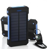 Wholesale 2016 Dual USB Solar Battery Chargers High Capacity mAh Portable Solar Energy Panel Charger Power Bank