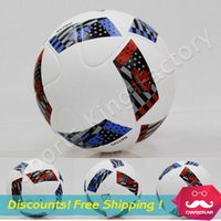Soccer Balls ball champions league - American League soccer ball New arrival Champions football ball Premiership La Liga Skid PU particle pattern soccer ball free ship