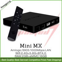 best wireless media player - Genuine MINI MX S905 Best K Streaming Quad Core TV BOX Android Amlogic IPTV KODI Media Player Better Than T95
