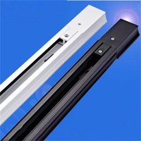 track light rail accessories fixtures - 1m Aluminum Track Rail Accessories For Track Lighting Spot Lamp LED Track Light Rail Fixture Universal Rails Black White Silver Line Wire