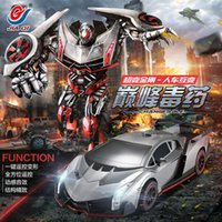 Wholesale rc racing car TT667 Drift Ares deformation Electric remote control car toys transformes Optimus Prime Deformation Robot leader