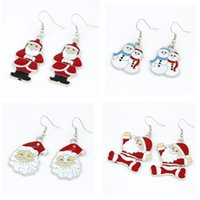 Wholesale New Fashion Hollow snowman shaped alloy earring Christmas Earrings for women style earrings for women