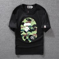 Cheap suprem Hot new spring summer 2016, classic, camouflage, head of man Man head 23 150, men's short sleeve T-shirt