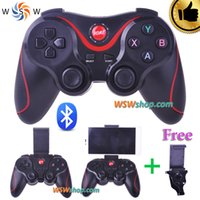 Wholesale Bluetooth Gamepad For Android Smart Phone TV Box Joystick Wireless Bluetooth Joypad Game Controller With Free Mobile Holder