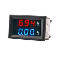 Wholesale DC V A Voltmeter Ammeter Blue Red LED Amp Dual Digital Volt Meter Gauge digital voltmeter ammeter voltimetro amperimetro