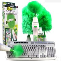 Wholesale GO Duster Motor driven Feather Duster Dust Brush More Function Remove Dust Shan Motor driven Remove Dust Brush
