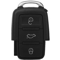 Wholesale JHBQ654 Buttons Entry Key Remote Fob Shell Cover Case for Volkswagen Golf Jetta Beetle CC Eos GTI Passat Rabbit