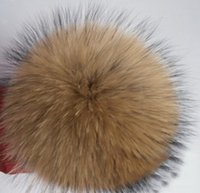 ball boy shoes - 10 cm real raccoon fur pom poms ball key chain fur hat winter hats for shoes fur cap accessories