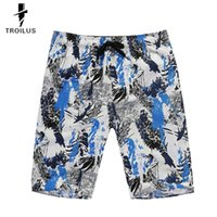 Wholesale Troilus Camo Printing Summer Beach Men s Loose Casual Surf Sports Shorts