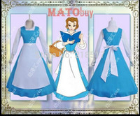 beauty and the beast - brand new set Beauty and The Beast cosplay Belle cosplay costume clothes halloween Masquerade Costumes F