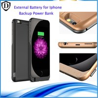 Wholesale Backup power bank for iPhone s plus Rechargeable External Battery Pack Power case with opp bag