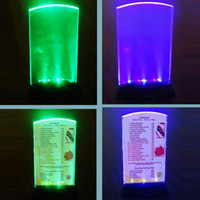 Wholesale LED Menu LED Drink List Restaurant Hotel Bar KTV Night Club LED Table Menu Powered by AAA Battery