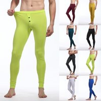 Wholesale Sexy Men s Soft Long Johns Thermal Underwear Pants Bottom Trousers Cotton Freeshipping