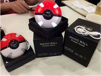 ar batteries - Poke Power Bank mAh for Poke AR game Powerbank with Pikachu Poke Ball Lithium Batteries With Poke Ball LED Light