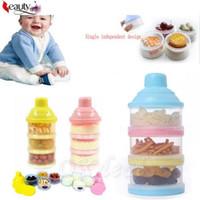 Portátil para bebé de alimentación del bebé la leche en polvo Alimentos Botella contenedor 3 celdas de la rejilla de la caja 1 PCS
