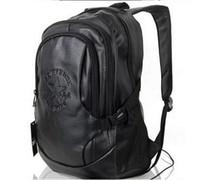 Fashion Tender 2016 impermeable PU bolsos de cuero Restaurar Ancient Ways viaje mochila bolsa Negro Hombres estudiantes de la escuela secundaria MX14