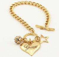 american jewellery designs - Fashion Brand heart shaped charm Bracelets silver gold plated Bangles American love jewellery design jewelry for women