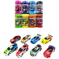 Wholesale 1 Coke Can Mini RC Car Carro Speed Truck Radio Remote Control Micro Racing Vehicle Carrinho De Controle Remoto Electric Toy