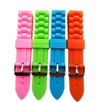 Wholesale 18mm Premium Silicone Watch Strap Bands Girl Boy Waterproof Silicone Rubber Watchbands