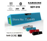 Wholesale Free GB Card Big power Sardine HIFI Portable Bluetooth Speaker w FM Radio wireless USb Amplifier Stereo Sound Box with mic