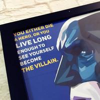 Wholesale Superheroes poster set Superman Batman POP poster Print Art Deco Series