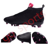 best hot ace - Hot sell Men s ACE PureControl Black Soccer Boots Soccer Shoes Outdoor Best Quality Athletic Soccer Football Shoes Soccer Sneaker