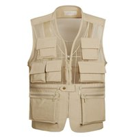 Wholesale 2016 Multi Function Mesh Vest With Many Pockets High Quality Men s Photography Vests