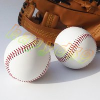 baseball practice balls - 9inch White hand sewing Baseball Base Ball Practice Trainning PVC Softball Hardball Sport Team Game