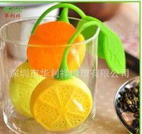Wholesale Teabag Infuser Silicone Tea Strainer Teapot Teacup Tea Filter Ball Bag Lemon Style High quality Design Lovely