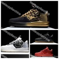 air force ones - 2016 New KPU Mens Running Shoes Force I Men Shoes Skateboarding Airforce Sneaker Sports Trainers Air Force One Shoes Gold White Size