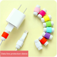 Wholesale 500pcs USB Cable clip Earphone Protector Colorful Earphones Cover For Apple iPhone Samsung HTC