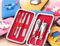 Wholesale Stainless Steel Nail Clipper Kit Nail Care Set Pedicure Scissors Tweezer Knife Ear Pick Utility Manicure Set Tools Each Set