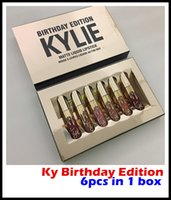 beautiful liquids - 5 Beautiful Kylie Jenner Limited Birthday Edition Kylie Matte liquid Lipstick mini gold kylie lip set