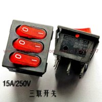 Wholesale PHISCALE red rocker switch KCD3 A V pin On Off switch on off v