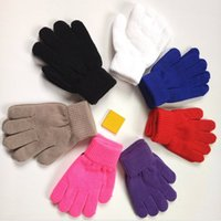 Wholesale Children s gloves foreign trade thickening coral velvet warm gloves magic knitted gloves foreign trade children s knitted gloves