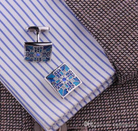 Wholesale Classic Mens Wedding Party gift shirt Square cufflinks cuff links C00124 SPDH